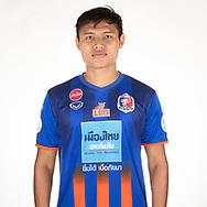 THAILAND - APRIL 11: Tossapol Lated #6 of Port FC on April 11, 2019.<br /> .<br /> .<br /> .<br /> (Photo by: Naratip Golf Srisupab/SEALs Sports Images/MB Media Solutions)