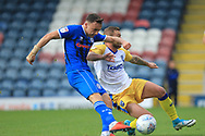 Ollie Rathbone shoots during the EFL Sky Bet League 1 match between Rochdale and Gillingham at Spotland, Rochdale, England on 15 September 2018.