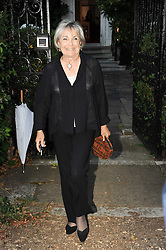 SALLY ASPINALL leaving a summer party hosted by Lady Annabel Goldsmith at her home Ormeley Lodge, Ham Gate, Richmond on 13th July 2010.