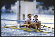 Henley, Great Britain,  Silver Goblets and Nickols' Challange Cup. Men's Pair, Fogerty and Batten AUS. 1988 Henley Royal Regatta, Henley Reach, River Thames, Annual Event. [Mandatory credit: Peter Spurrier/Intersport Images]