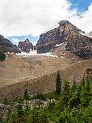 Looking south toward Lefroy Glacier, near Lake Louise, Banff National Park, Alberta, Canada