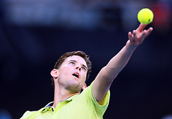 MELBOURNE, Jan. 22, 2018  Dominic Thiem of Austria serves during the men's singles fourth round match against Tennys Sandgren of the United States at Australian Open 2018 in Melbourne, Australia, Jan. 22, 2018. Dominic Thiem lost 2-3. (Credit Image: © Li Peng/Xinhua via ZUMA Wire)