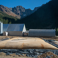 A wastewater treatment plant mitigates mining damage near Silverton, Colorado.