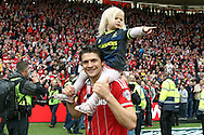 Middlesbrough defender George Friend (3)  during the Sky Bet Championship match between Middlesbrough and Brighton and Hove Albion at the Riverside Stadium, Middlesbrough, England on 7 May 2016. Photo by Simon Davies.