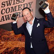 Claudio Zuccolini, Gewinner des Publikumspreises sowie des Awards in der Kategorie «Solo». Verleihung der Swiss Comedy Awards am 20. September 2020 im Bernhard Theater Zürich.