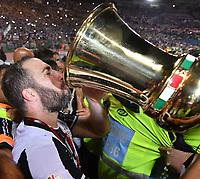 Gonzalo Higuain drinks from the cup. Beve dalla coppa <br /> Juventus vince la coppa Italia <br /> Juventus wins the trophy <br /> Roma 17-05-2017 Stadio Olimpico Finale Coppa Italia 2016/2017 Juventus - Lazio Foto Andrea Staccioli / Insidefoto