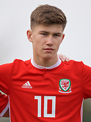 WREXHAM, WALES - Wednesday, October 30, 2019: Wales' Cameron Congreve lines-up before the 2019 Victory Shield match between Wales and Republic of Ireland at Colliers Park. (Pic by David Rawcliffe/Propaganda)