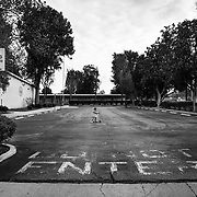 Do Not Enter was the order by the nation's second largest school district when they closed all schools and went to virtual learning. The empty parking lot at Haynes Charter Elementary serves as a playground.