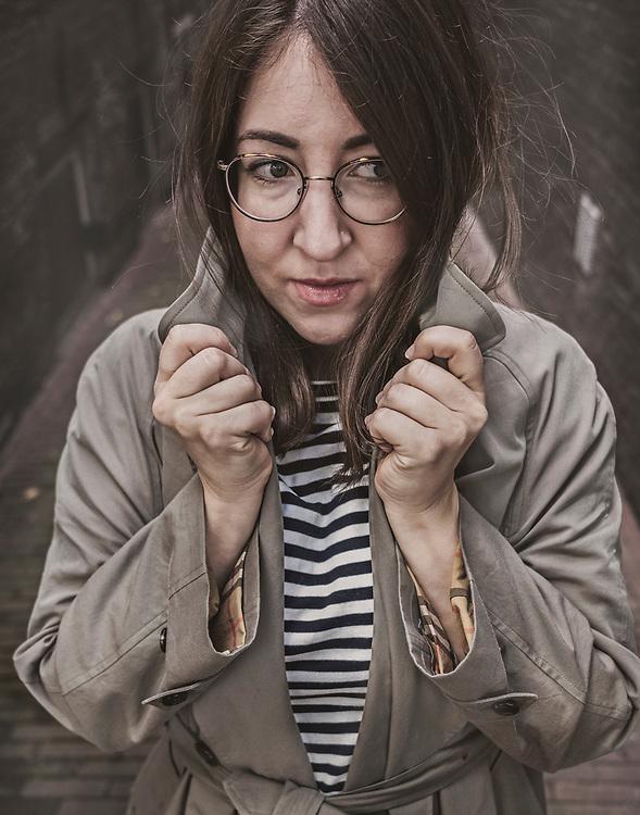 Nederland. Amsterdam, 07-09-2018. Photo: Patrick Post. Portret van Deborah Feldman, schrijver.
