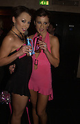 The Cheeky girls. Monica and Irina Irimia. One Fo(u)r Party hosted by Nicolas Feullatte champage at Mivida, 8-9 Argyll Street. London.   October 11 2005. ONE TIME USE ONLY - DO NOT ARCHIVE © Copyright Photograph by Dafydd Jones 66 Stockwell Park Rd. London SW9 0DA Tel 020 7733 0108 www.dafjones.com