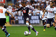 Thomas Ince of Derby County in action. Skybet football league championship match, Bolton Wanderers v Derby County at the Macron stadium in Bolton, Lancs on Saturday 8th August 2015.<br /> pic by Chris Stading, Andrew Orchard sports photography.