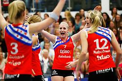 20150425 NED: Eredivisie VC Sneek - Eurosped, Sneek<br />Marrit Jasper (7) of VC Sneek<br />©2015-FotoHoogendoorn.nl / Pim Waslander
