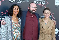 Edinburgh International Film Festival, Thursday, 21st June 2018<br /> <br /> Jury Photocall<br /> <br /> Pictured:  Miriam Bale, Alejandro Diaz Castano and Sophie Skelton of the Shorts Jury<br /> <br /> (c) Alex Todd | Edinburgh Elite media