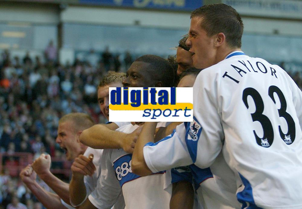 Photo: Aidan Ellis.<br /> Sheffield United v Middlesbrough. The Barclays Premiership. 30/09/2006.<br /> Boro's Yakubu celebrates his equaliser
