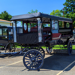 Wagon and buggy used for tourist rides in Lancaster, PA.