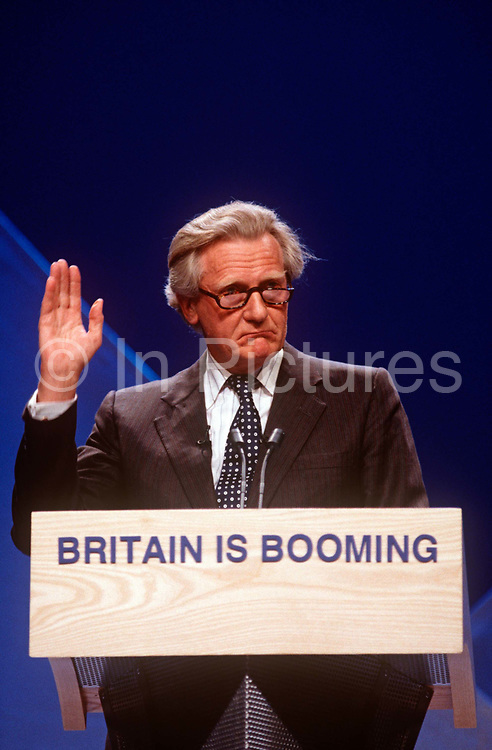 Senior Conservative politician, Michael Heseltine speaks at a Tory Party rally, on 29th April 1997, in London, England. Present to rally support for British Prime Minister,John Major who went on to lose the election to Labours Tony Blair.