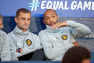 Thierry Henry, assistant coach of Belgium during the International Friendly match between Scotland and Belgium at Hampden Park, Glasgow, United Kingdom on 7 September 2018.