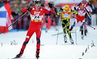 Kombinert<br /> World Cup / Verdenscup<br /> 16.01.2011<br /> Seefeld Østerrike<br /> Foto: Gepa/Digitalsport<br /> NORWAY ONLY<br /> <br /> FIS Weltcup. Bild zeigt den Jubel von Magnus Moan (NOR).