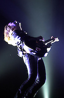"""Melissa Etheridge peforms in her """"Live and Alone"""" tour to a sold out audience at Washington, DC's Warner Theater on August 06, 2001."""