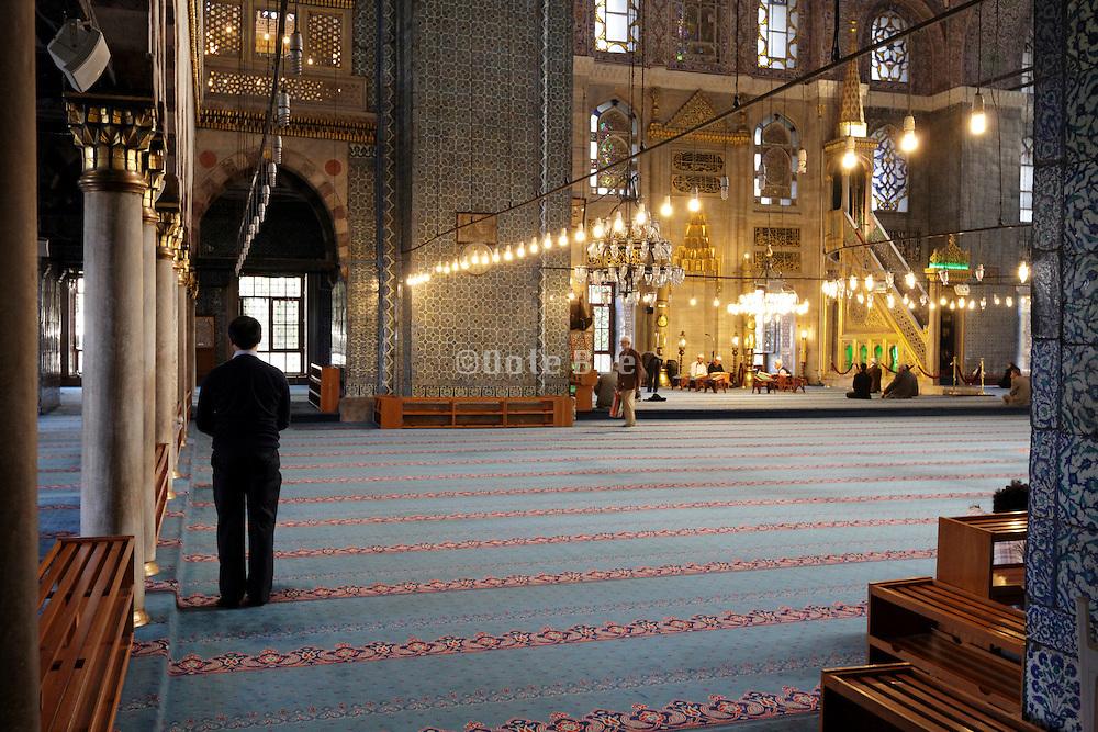 inside the Yeni Camii in Istanbul