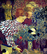 Edouard Vuillard (1868- 1940) French painter associated with the Nabis group of artists.  The Striped Blouse