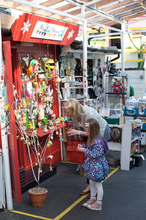 Blackrock Market on 08th April 2017 in County Dublin, Republic of Ireland. A long-running market with over 30 eclectic stalls selling goods such as art, jewellery & home decor. Dublin is the largest city and capital of the Republic of Ireland.