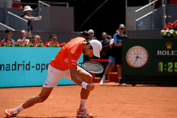 May 9, 2019 - Madrid, Spain - Novak Đoković of Croatia celebrates victory in his match against Jérémy Chardy of France during day six of the Mutua Madrid Open at La Caja Magica in Madrid on 9th May, 2019. (Credit Image: © Juan Carlos Lucas/NurPhoto via ZUMA Press)