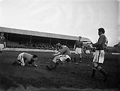 1954 - Soccer: Shelbourne v Limerick at Tolka park
