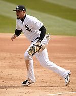CHICAGO - APRIL 05:  Jose Abreu #79 of the Chicago White Sox fields against the Seattle Mariners on April 5, 2019 at Guaranteed Rate Field in Chicago, Illinois.  (Photo by Ron Vesely)  Subject:  Jose Abreu