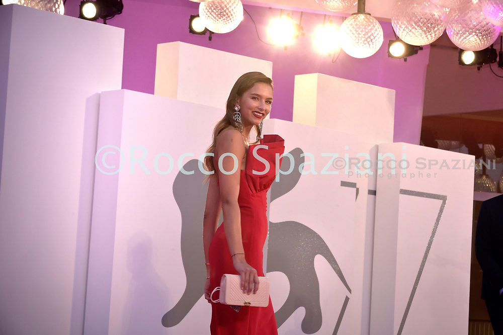 """VENICE, ITALY - SEPTEMBER 10: Juana Arias  walks the red carpet ahead of the movie """"Nuevo Orden"""" (New Order) at the 77th Venice Film Festival on September 10, 2020 in Venice, Italy.<br /> (Photo by Rocco Spaziani)"""