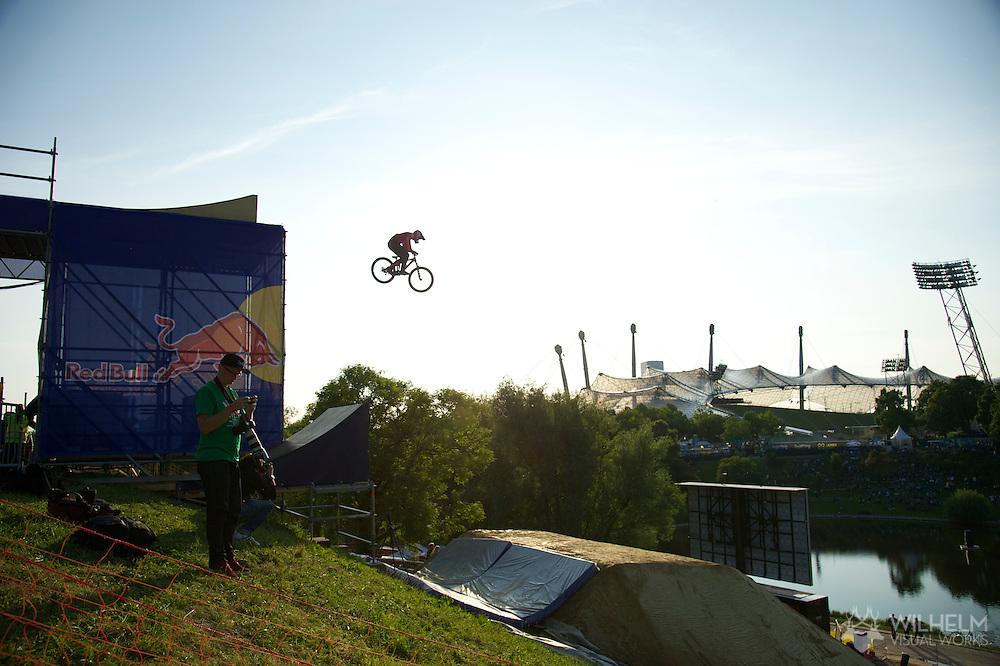 Brandon Semenuk during Mountain Bike Slopestyle Finals at the 2013 X Games Munich in Munich, Germany. ©Brett Wilhelm/ESPN