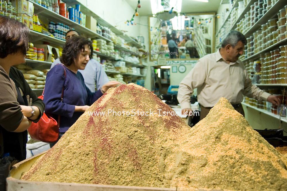The Market, Jerusalem old city, Israel, selling spices