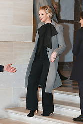 Princess Charlene of Monaco attends the spousal event at the Chateau de Versailles in Versailles, near Paris, on November 11, 2018 as part of commemorations marking the 100th anniversary of the 11 November 1918 armistice, ending World War I. Photo By Laurent Zabulon/ABACAPRESS.COM