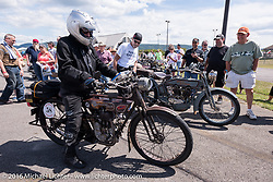 Norm Nelson of FL on his 1911 Reading Standard during the Motorcycle Cannonball Race of the Century. Stage-2 from York, PA to Morgantown, WV. USA. Sunday September 11, 2016. Photography ©2016 Michael Lichter.