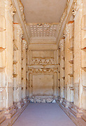 Burial Chambers inside Tower of Elahbel, burial tower, Palmyra, Syria. Ancient city in the desert that fell into disuse after the 16th century.