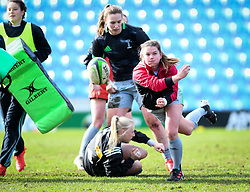 Leanne Riley of Harlequins warms up before the game - Mandatory by-line: Andy Watts/JMP - 06/02/2021 - Sandy Park - Exeter, England - Exeter Chiefs Women v Harlequins Women - Allianz Premier 15s