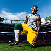 Green Bay Packers inside linebacker Nate Palmer (51) poses for a photo before the NFL regular season game against the Denver Broncos on Sunday, Nov. 1, 2015 in Denver. The Broncos won, 29-10. (Ric Tapia via AP)