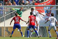 ALL BRUK AV BILDET BLIR FAKTURERT. INNGÅR IKKE I AVTALER.<br /> <br /> Fotball<br /> Tyskland<br /> Foto: imago/Digitalsport<br /> NORWAY ONLY<br /> <br /> DFB-Pokal - 1. Runde - Fußball - FC Ingolstadt 04 - SpVgg Unterhaching - Torwart Örjan Haskjard Nyland (26, FCI) rettet vor dem Tor mit Benjamin Hübner (5, FCI) 1. BL - FC Ingolstadt 04 Saison 2015/2016<br /> <br /> Ørjan Håskjold Nyland