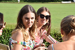 Amber Le Bon and Sabrina Percy at the Laureus polo Cup at Ham Polo Club, Ham, London, England. 21 June 2018.