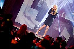 Singer Ana Soklic perform during presentation of Team Slovenia for Sochi 2014 Winter Olympic Games on January 22, 2014 in Grand Hotel Union, Ljubljana, Slovenia. Photo by Vid Ponikvar / Sportida