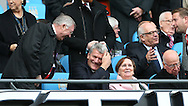 Former manager Sir Alex Ferguson jokes with former Chief  Executive David Gill - Barclays Premier League - Manchester City vs Manchester Utd - Etihad Stadium - Manchester - England - 2nd November 2014  - Picture David Klein/Sportimage