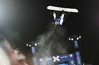 Snowboard , X-Games Oslo <br /> 26. Februar 2016  , 20160226<br /> Snowboard, Half Pipe, Wyller, X-Games <br /> Iouri Podladtchikov i lufta under menenes finale <br /> Foto: Sjur Stølen / Digitalsport