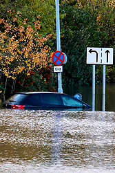 South Yorkshire flooding. Ickles Roundabout Rotherham. Stranded and partially submerged vehicles shortly before the arrival  Specialist rescue teams from the West Midlands Fire service rescue people from vehicles and business premises along the A6178<br /> <br />  Copyright Paul David Drabble<br />  07 November 2019<br />  www.pauldaviddrabble.co.uk