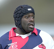 Wycombe, Buckinghamshire, 29th February 2004, Adams Park, [Mandatory Credit; Peter Spurrier/Intersport Images],<br /> 29/02/2004  -  Powergen  Cup - London Wasps v Pertemps Bees<br /> Bees - Luke Nabaro