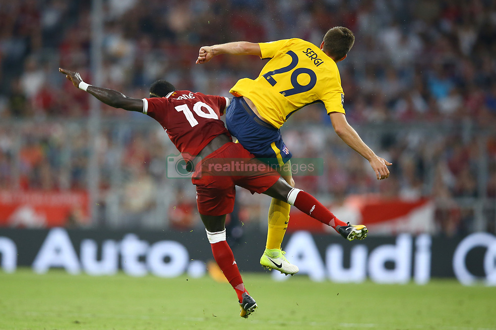 August 2, 2017 - Munich, Germany - Sadio Mane of Liverpool and Sergio Gonzalez of Atletico de Madrid during the Audi Cup 2017 match between Liverpool FC and Atletico Madrid at Allianz Arena on August 2, 2017 in Munich, Germany. (Credit Image: © Matteo Ciambelli/NurPhoto via ZUMA Press)