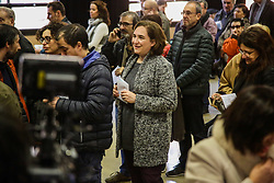 Barcelona vote for the Catalan regional elections. 21 Dec 2017 Pictured: Ada Colau, Barcelona major. Photo credit: Fotogramma / MEGA TheMegaAgency.com +1 888 505 6342
