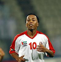 03/03/04 - ABU DHABI - UAE - Under 23 - U23 - PRE OLYMPIC GAMES - U.A.E. Vs. BAHRAIN - <br />Here UAE Start PLAYER N*10 ISMAEIL MATAR IBRAHIM.<br />© Gabriel Piko/ Piko-Press