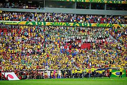Equipes do Brasil e Japão entram em campo para partida válida pela primeira rodada da Copa das Confederações, no Estádio Nacional Mané Garrincha, em Brasília. FOTO: Jefferson Bernardes/Preview.com