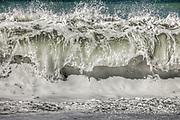 Wave breaking, Kaikoura, Canterbury, New Zealand