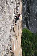Madaleine Sorkin on The West Face of Leaning Tower (V 5.13a A0)